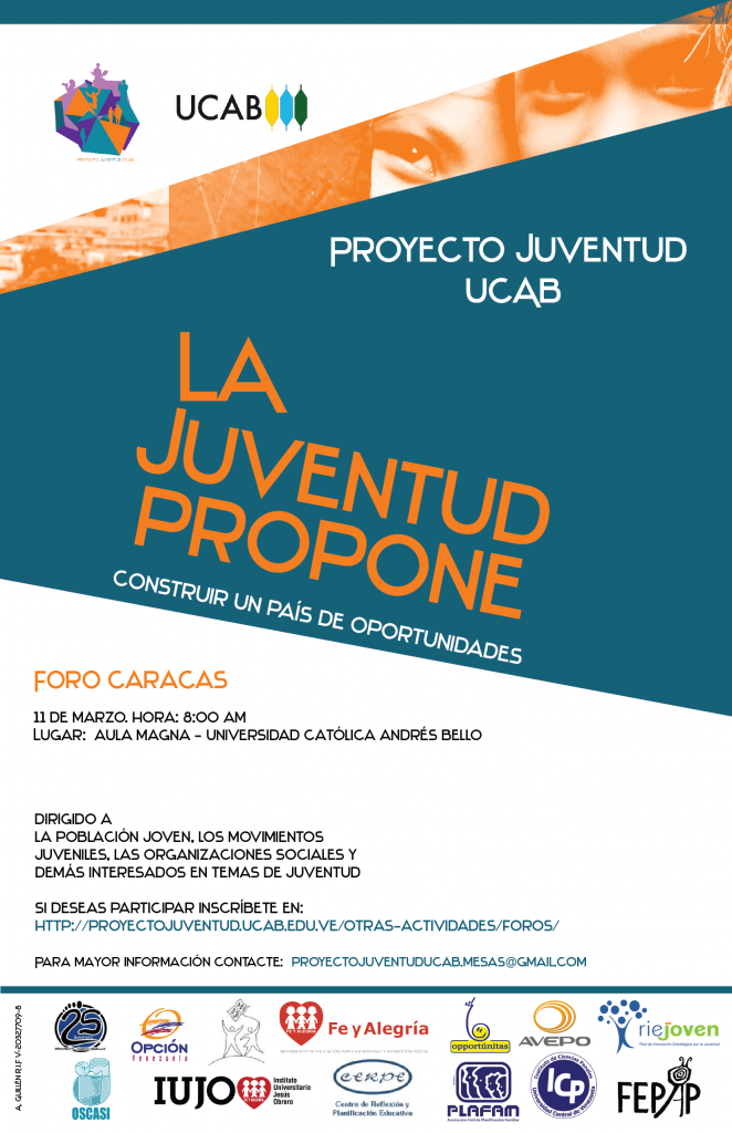 Afiche proyecto juventud foros_Caracas