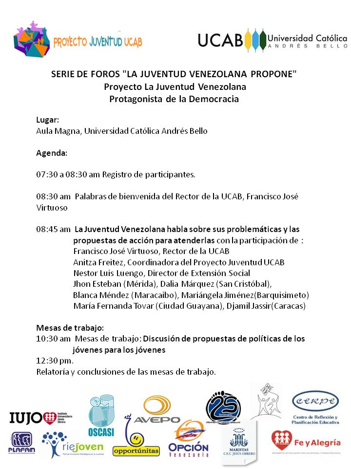Agenda Foro Caracas